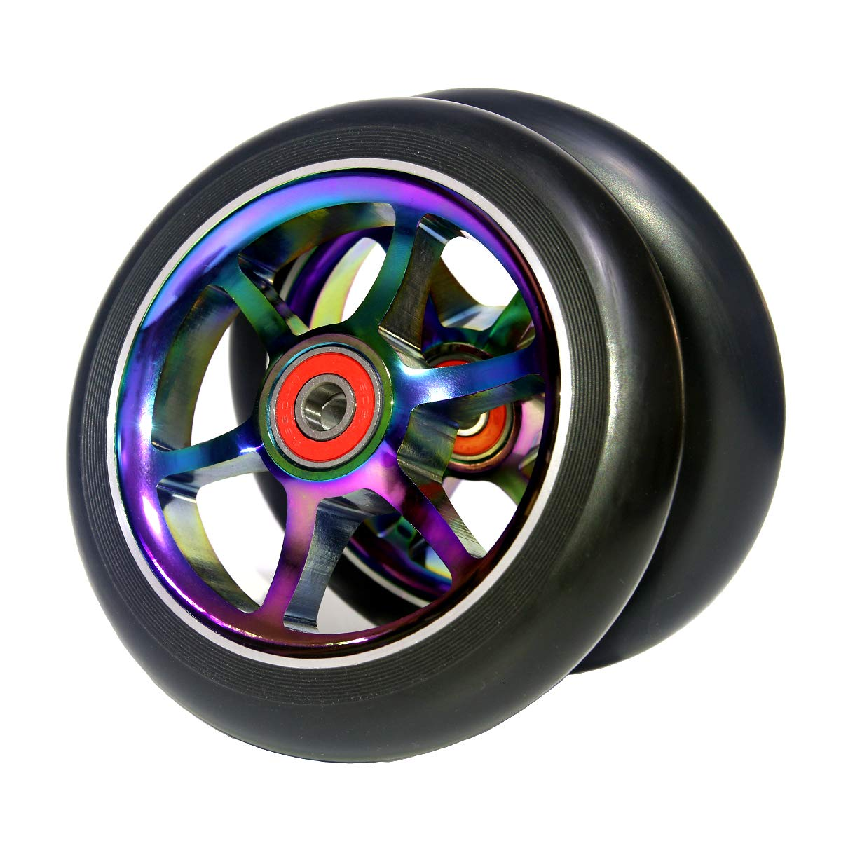 Z-FIRST 2pcs Replacement 120mm Pro Scooter Wheels with ABEC 9 Bearings Fit for MGP//Razor//Lucky Pro Scooters