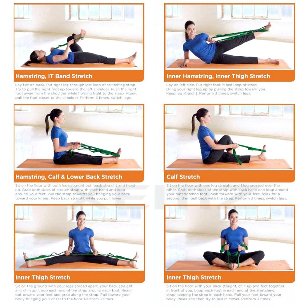Amazon.com : XEMZ Multi-Loop Yoga Strap, Durable Antiskid ...