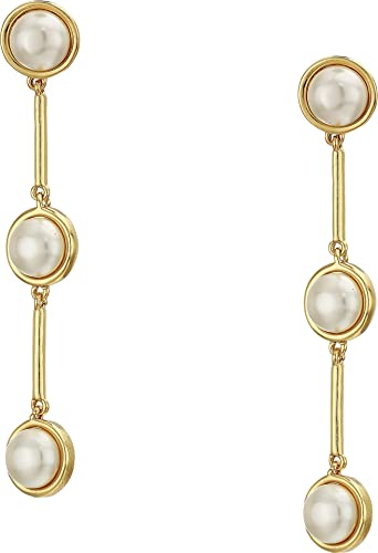 fc79de498e8 Amazon.com  Vince Camuto Women s Linear Post Earrings Gold Ivory Pearl One  Size  Jewelry