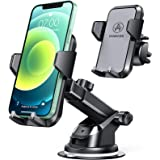 VANMASS Car Phone Mount, Universal Cell Phone Holder for Car Dashboard, Windshield, Air Vent with One-Click Release Button, C