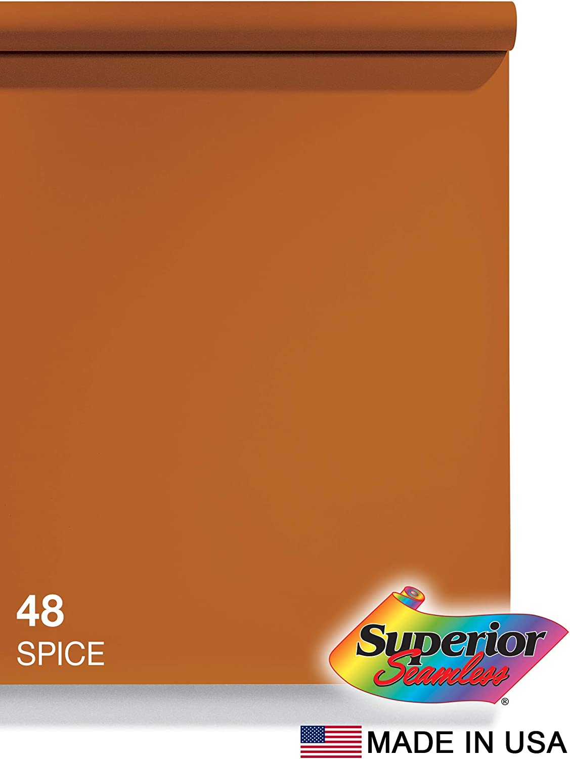 Superior Seamless Photography Background Paper, 48 Spice (53 inches Wide x 18 feet Long)