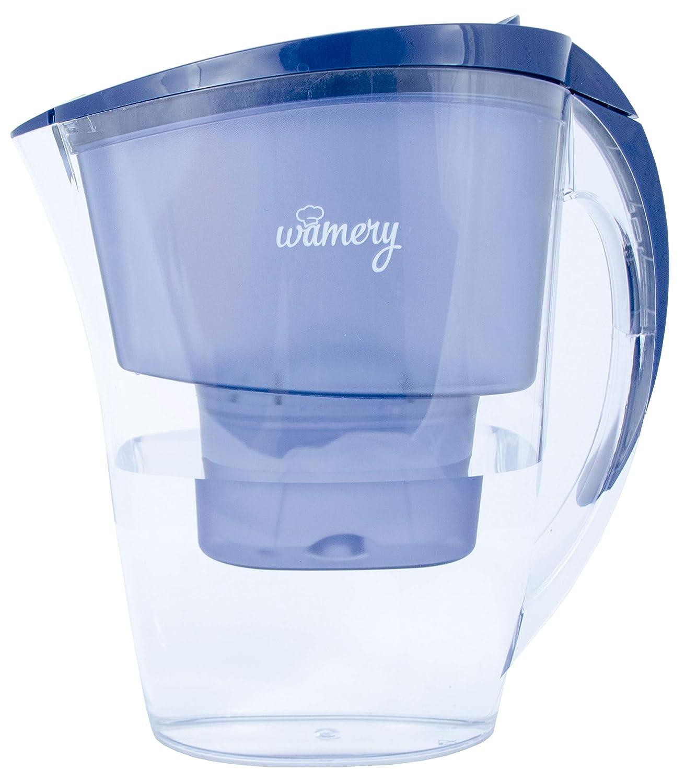 Jarra con Filtro DE Agua Delgado 1.5 litros, Certificado por WQA. Sin BPA. Elimina Metales y Mejora el Sabor. Reemplazos neutrales para una Dieta Saludable.