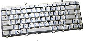 NK750 NEW Genuine OEM Dell XPS M1330 M1530 Inspiron 1420 1421 1520 1521 1525 1526 Laptop Notebook Silver US ENGLISH 86 Key Stroke Palmrest Keypad Typing Board Sunrex Model K071425AS Keyboard MU194