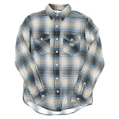 Lauren Ralph Denim & Supply Casey Blue Gray Size: XLTG Vintage Plaid Twill Work Shirt