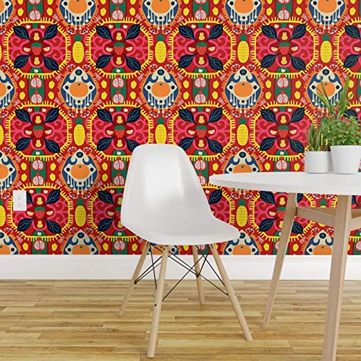 Spoonflower Peel And Stick Removable Wallpaper Kilim Modern