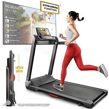 Sportstech FX300 - Cinta de correr ultra delgada, gran superficie ...
