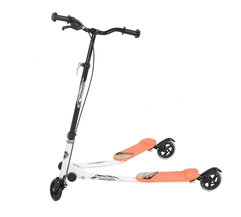 Patinete de 3 ruedas para niños, ajustable, plegable, tamaño pequeño