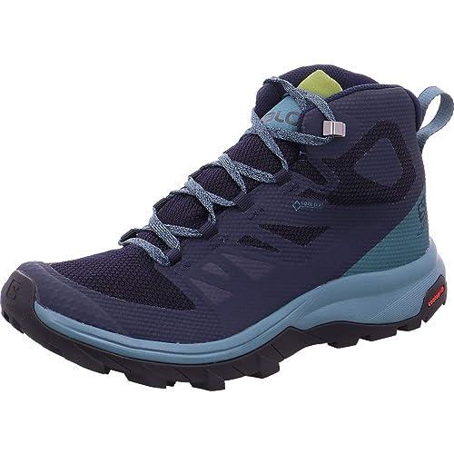 f751da8bc9b Salomon Outline Mid GTX Womens Walking Shoes UK 7.5 Navy Blazer ...
