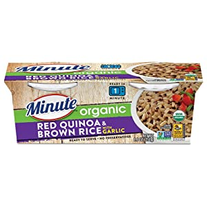Minute Ready To Serve Organic Red Quinoa & Brown Rice With Garlic, 2/4.4-Ounce Cups