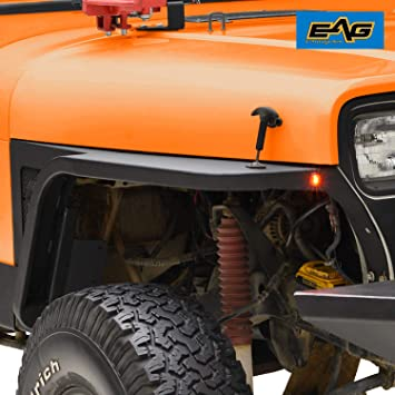 Amazon Com Eag Steel Front Fender With Flair And Led Eagle Lights