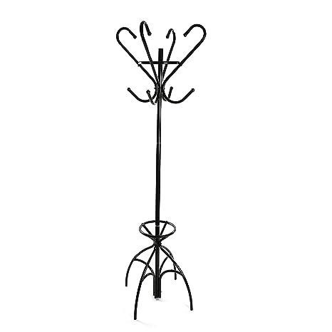 Versa 19840191 Perchero de pie Negro, 174x38,5x38,5cm, Metal ...