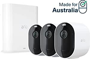 Arlo Pro 3-3 Camera System  2K Video with HDR Security Camera, Wire-Free, Colour Night Vision, 160° View (VMS4340P-100AUS)
