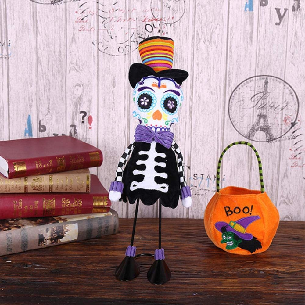 Decoraci Escultura Estatua Artesan Esqueleto De Halloween Marioneta Muñeca Decoración Juguete Complicado Adornos De Marionetas De Miedo Accesorios De Decoración Del Hogar Regalo Para Amigo, Niño