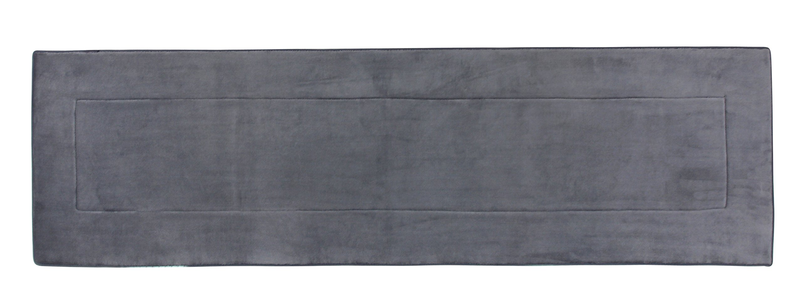 Fabbrica Home Ultra-Soft HD Memory Foam Runner (2 ft x 7.5 ft, Gray)