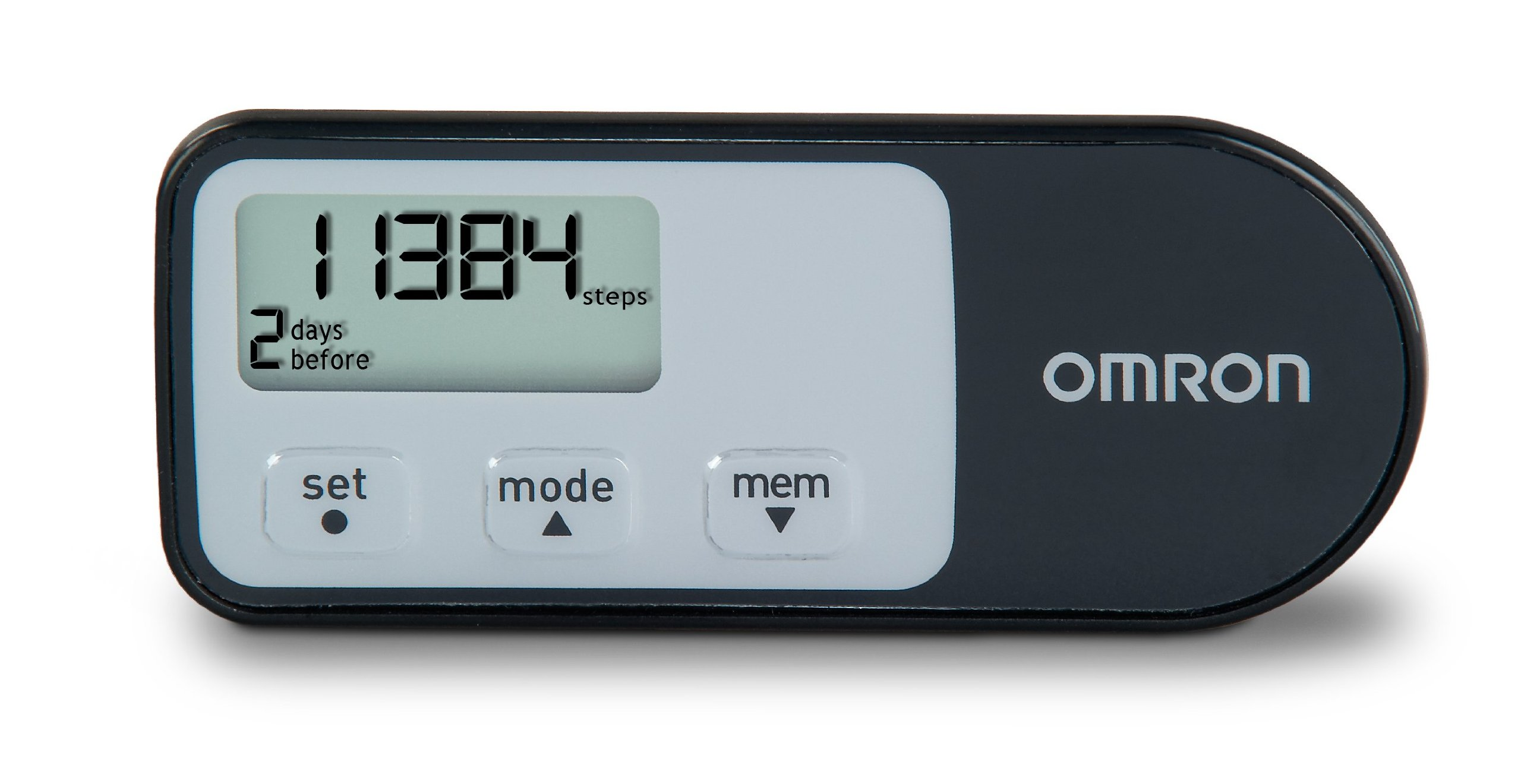 Omron HJ-321 Tri-Axis Alvita Pedometer, Black