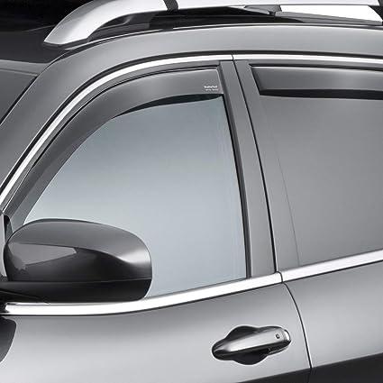Weathertech Side Window Deflectors >> All Weather Weathertech Side Window Deflectors For Jeep Cherokee 2014 2019 Dark Tint
