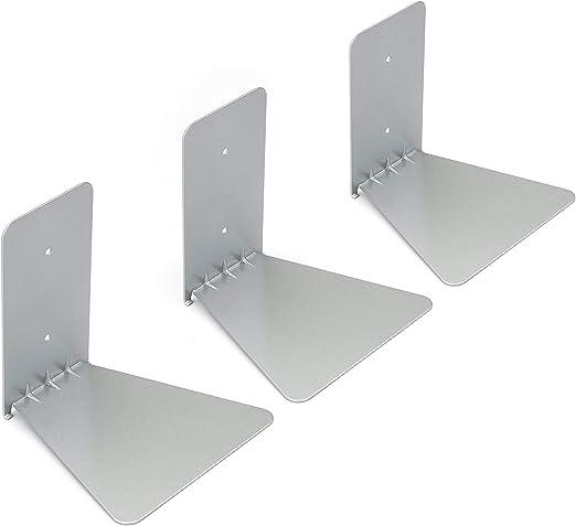 Umbra Conceal Floating Bookshelf Set of 3 Silver Large