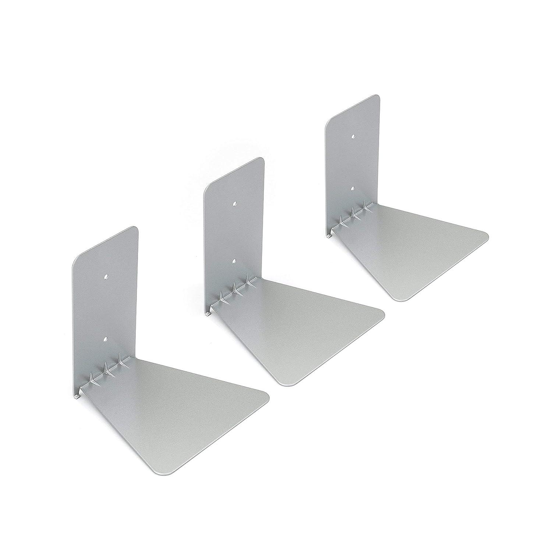 meet 78614 af348 Umbra 330639-560 Conceal Floating Bookshelf, Set of 3, Small, Silver