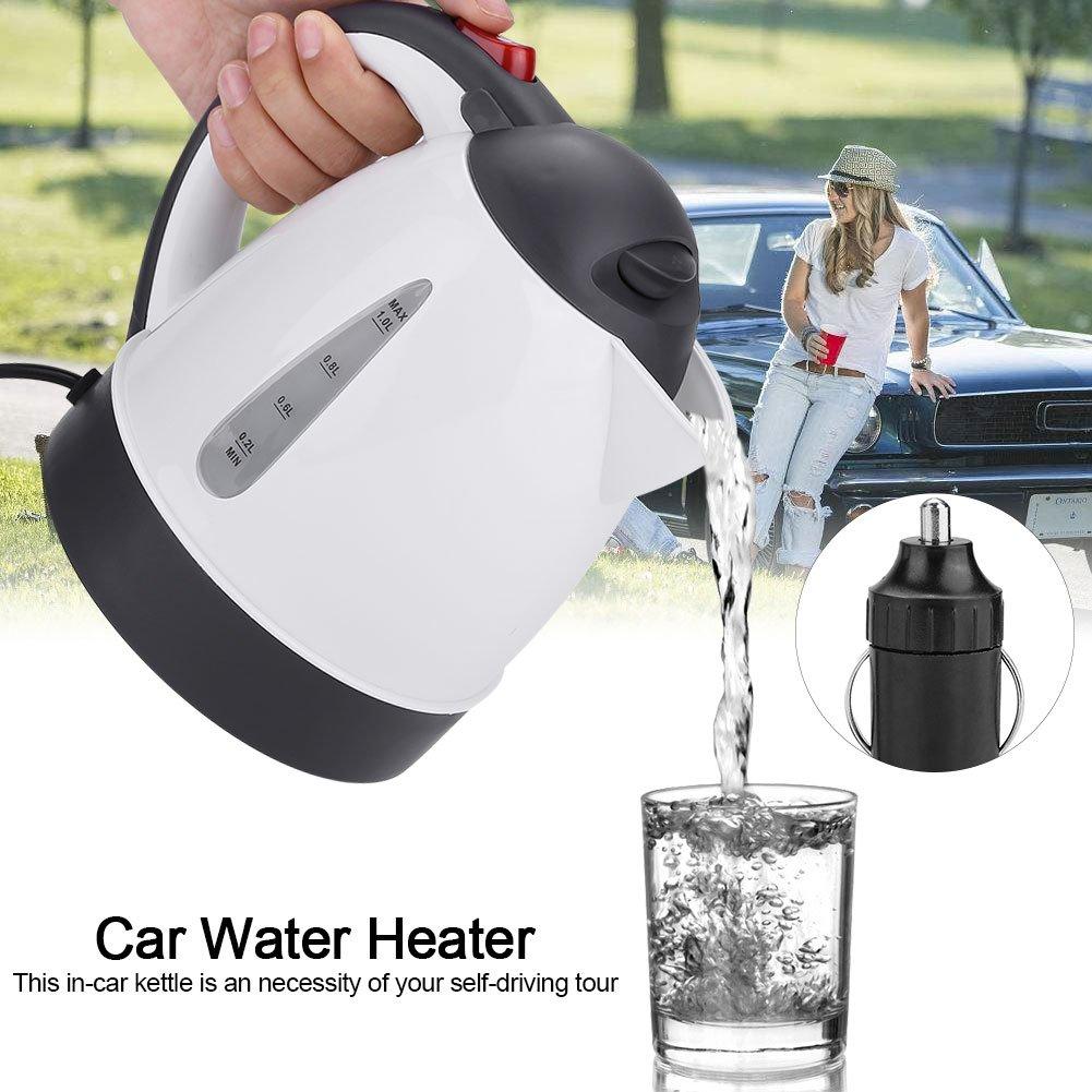Calentador de Agua para EL Caf/é O T/é Resistente A Altas Temperaturas Asixx 1000ML 24V Hervidor Port/átil