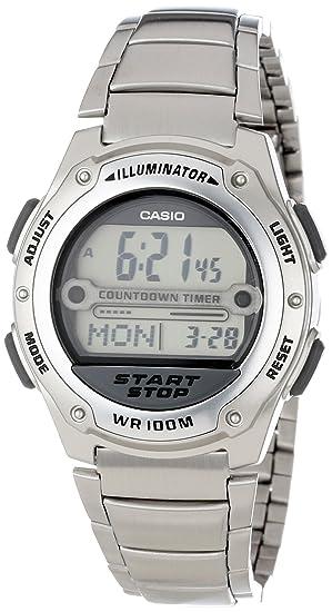 Casio W756D-7AV - Reloj de pulsera hombre, Acero inoxidable, color Plata