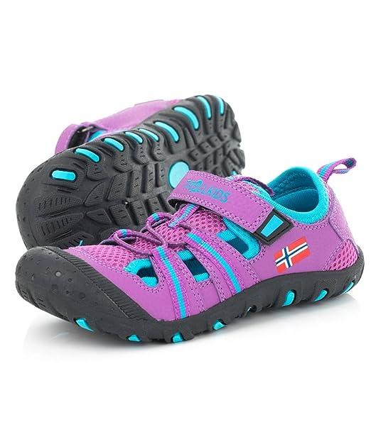 1800c7c77 TROLLKIDS Sandalias Sandefjord para niños  Amazon.es  Zapatos y complementos