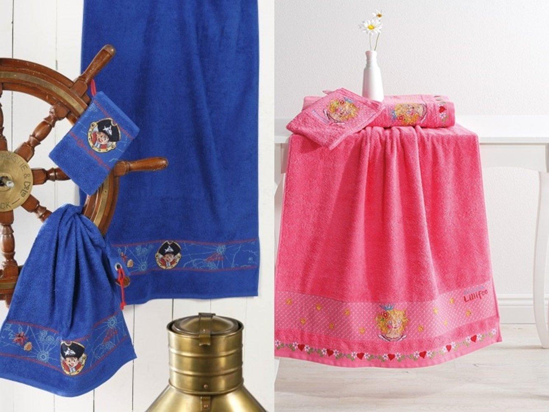 regalo Ideas de la Casa Fiesta Enanos - Rizo Serie Capt n Sharky y Lillifee - Fabricado en Alemania - con cenefa decorativa y LIEBEVOLL bordado de Diseño ...