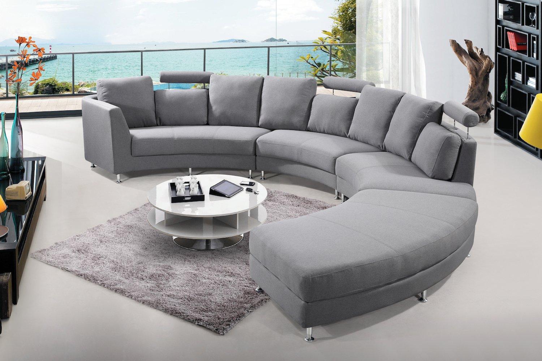 Amazon.com: Velago Rossini Dark Grey Modern Design Circular ...