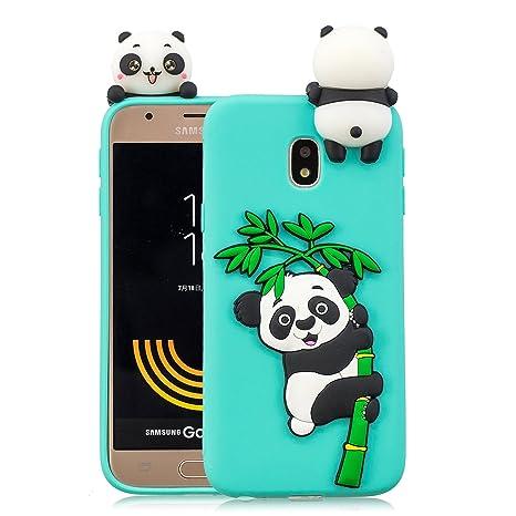 Leton Funda Samsung Galaxy j5 2017 Silicona Panda 3D Suave Flexible TPU Carcasa Galaxy j530 Ultra Delgado Mate Gel Tapa Antigolpes Goma Cubierta Case ...