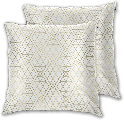 Cushion Covers Pack of 2 Cushion Covers Throw Pillow Cases Shells for Couch Sofa Home Decor Modern Art Deco ...
