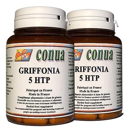 Lot Special de 2 frascos: Griffonia Simplicifolia L-5-HTP Extracto ...