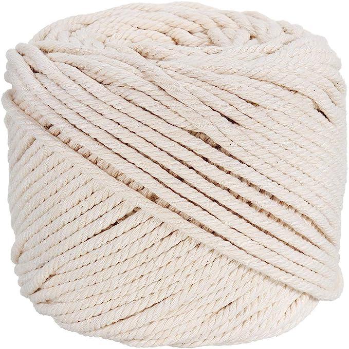 LILAC 100/% Recycled Cotton Yarn Cotton Macrame Cord Soft Macrame String Luxe Macrame 250g Macrame 3-4mm Macrame Cord