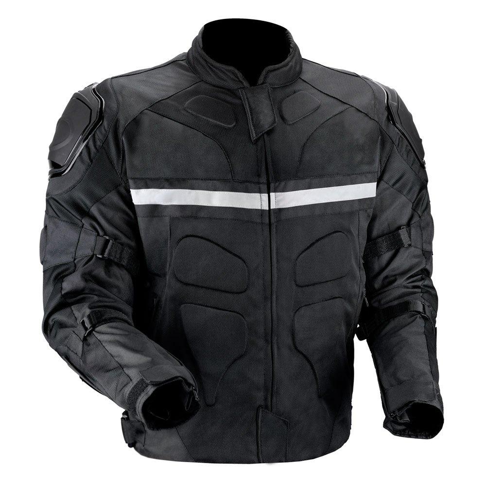 Mens black and gold motorcycle jacket