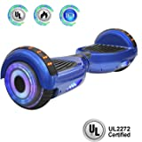 "NHT 6.5"" Hoverboard Electric Self Balancing Scooter Sidelights - UL2272 Certified Black, Blue, Pink, Red, White"