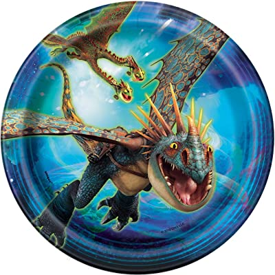 Unique How to Train Your Dragon Dessert Party Plates, 8 Ct.: Toys & Games