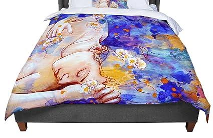 104 X 88 KESS InHouse Danny Ivan Splash Rainbow Abstract King Cal King Comforter