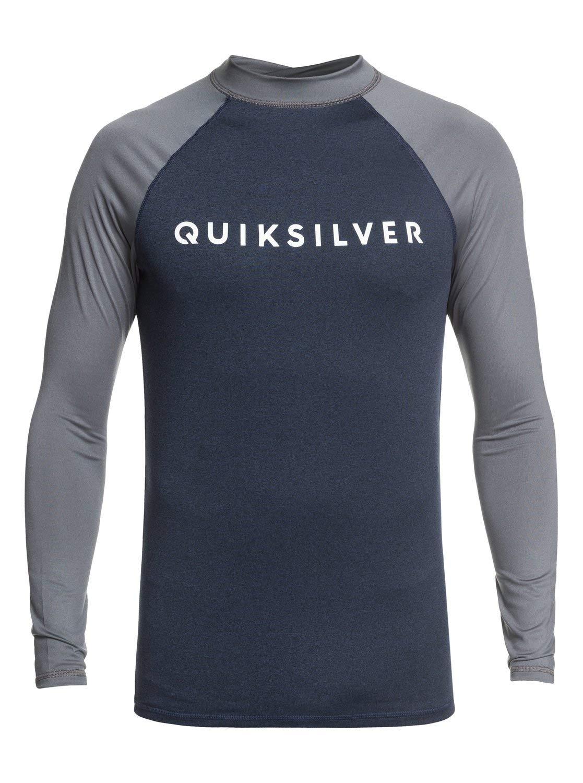 Quiksilver Always There Men's Long-Sleeve Rashguards - Moonlit Ocean Heather / 3X-Large by QUIKSILVER