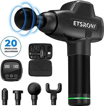 ETSROW 20 Adjustable Speeds Sonic Handheld Muscle Massager Gun