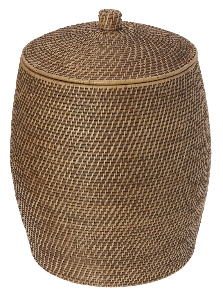 KOUBOO Rattan Beehive Hamper with Liner, Honey-Brown - 1030029