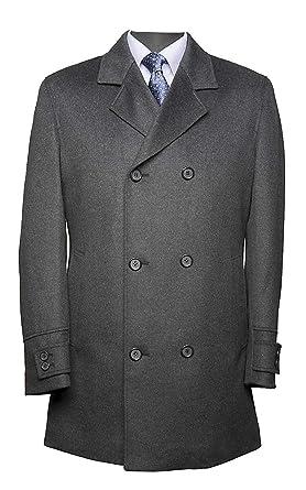 Caban mantel herren grau