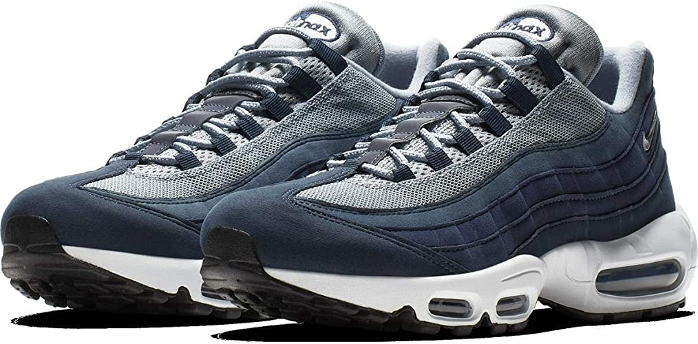 Mode herren Nike Air Max 95 Leather Up Schuhe All Schwarz