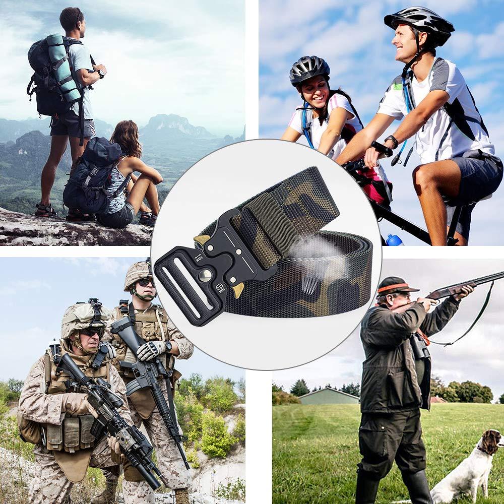 Cintura di Nylon Casual Casual Cintura di Sicurezza per Rigger Pesante Cintura in plastica YKK Resistente e Confortevole e Completamente Regolabile APERIL Cintura Tattica
