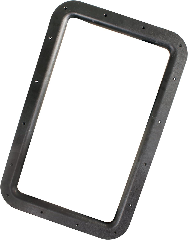JR Products 11021 Deluxe RV Entry Door Window Frame Set - Black