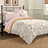 Discoveries Casual World Traveler Comforter Set, Queen, Ivory