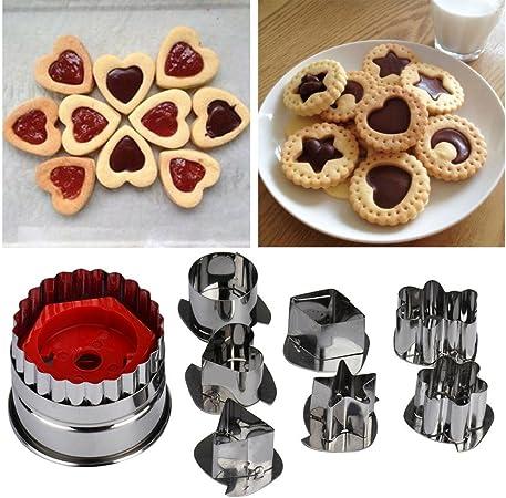 12Pcs Cuisson Coupe Biscuit Moule Fondant Pâtisserie Acier Inoxydable Set