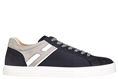 d7db8c916ed0 HOGAN REBEL Men s Shoes Suede Trainers Sneakers r141 Basso h Ombra blu US  Size 8.5 HXM14100201FN83673