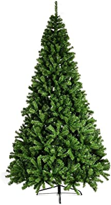 BESTChoiceForYou PVC Artificial Christmas Tree Premium Hinged with Metal Legs - 6 ft