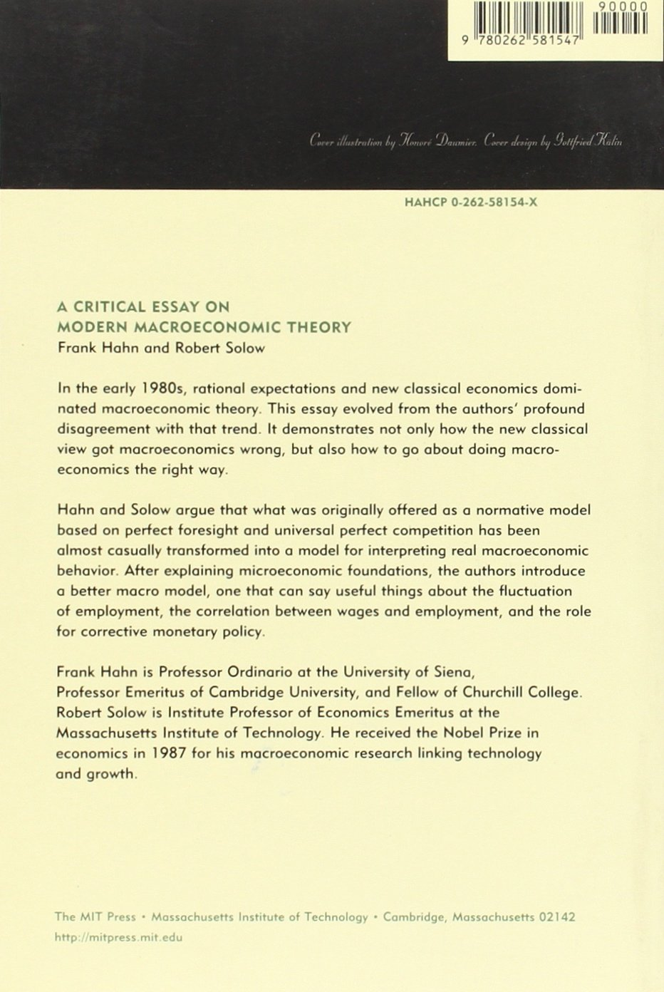 critical essay on modern macroeconomic theory mit press frank critical essay on modern macroeconomic theory mit press frank hahn robert m solow 9780262581547 com books