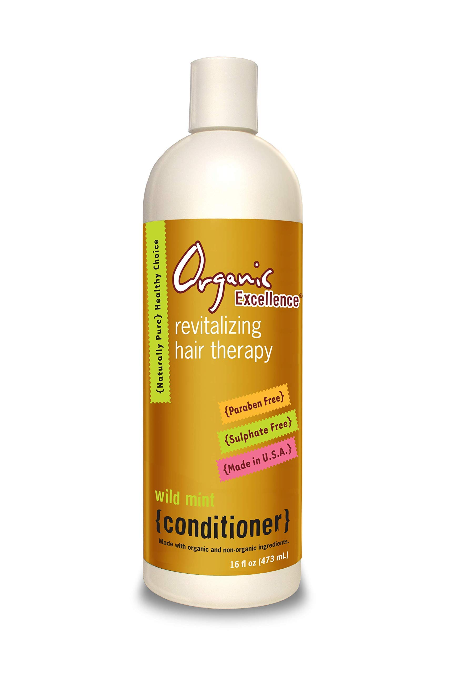 Wild Mint Conditioner, Paraben and Sulfate Free, All Natural, Color Safe - 16 oz