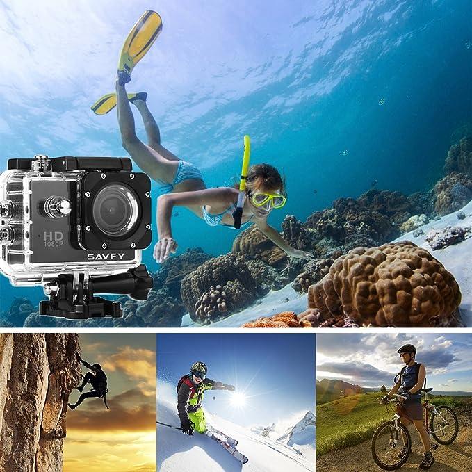 SAVFY® 30M Full HD SJ4000 1080P Cámara de Deporte / Videocámara de Acción / Action Sport Camera Waterproof / DVR Cámara 12 Mega Pixel 170 ° HD gran angular, ...