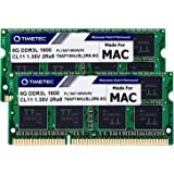 Timetec Hynix IC 16GB KIT(2x8GB) Compatible for Apple DDR3L 1600MHz for MacBook Pro(Early/Late 2011,Mid 2012), iMac(Mid 2011,